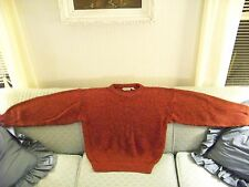 Men's Winter/Fall Trent Medium weight Acylic Knit RED/Orange Sweater: $21.45