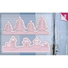 Joy Crafts Die Cutting Stencil - Christmas Houses & Pine trees - 6002/0587 - New