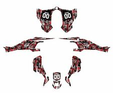 CAN AM DS 450 graphics sticker kit Red Digital Camo Free Custom Service