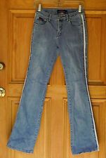 C'est toi Ladies Size 3 Low Rise Embellished Flare Blue Jeans