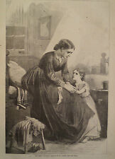THE EMPTY CHRISTMAS STOCKING  HARPER'S WEEKLY 1867