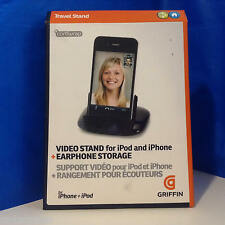 NEW! Griffin GC10028 Video Stand for iPod & iPhone + Earphone Storage