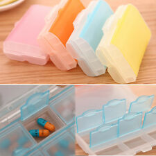Double 7-Day Weekly Tablet Pill Medicine Boxes Holder Storage Container Case UK