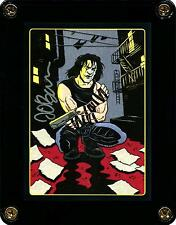 THE CROW EMBOSSED INSERT TRADING CARD 3 SIGNED BY ARTIST JAMES O'BARR