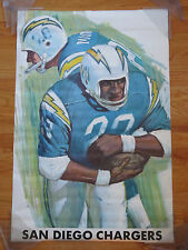 1970 NATIONAL FOOTBALL LEAGUE Poster SAN DIEGO CHARGERS (1960)