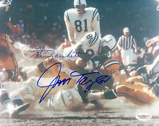 JIM TAYLOR & GINO MARCHETTE DUAL SIGNED JSA COA 8X10 PHOTO AUTO AUTOGRAPHED PACK