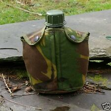 DUTCH ARMY SURPLUS WATER BOTTLE + CAMO POUCH same as british dpm metal belt clip