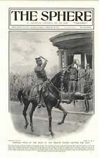 1919 Marshall Foch At The Head Of The French Troops Salutes King