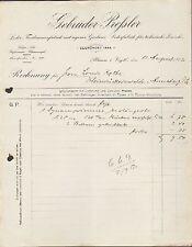 PLAUEN i. V., Rechnung 1912, Leder- u. Treibriemen-Fabrik Gebrüder Preßler