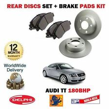 FOR AUDI TT QUATTRO 1.8 180BHP 1996-2006 SOLID REAR BRAKE DISCS AND PADS SET