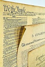 Declaration of Independence 16 X 14, Constitution of the U.S. 18.5 X 12.5, Bill