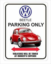 "Vintage VW Parking Sign 9"" x 12"""