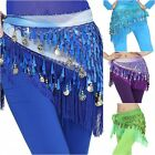Sexy Belly Dance Triangle Hip Skirt Belt Coins Sequins Chiffon Dance Hip Scarfs