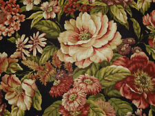 Mill Creek MIDNIGHT Black Floral Drapery Upholstery Home Decor Sewing Fabric