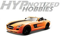 MAISTO 1:24 ALL STARS MERCEDES-BENZ SLS AMG ROADSTER DIE-CAST ORANGE 31370