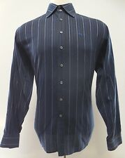BURBERRY London MEN Shirt 16 1/2 42 BLUE Multicolor STRIPED Knight LOGO Mens MAN