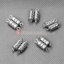 10 Chiusura Magnetica Fermaglio Argento per Collane Bracciali DIY Creazione