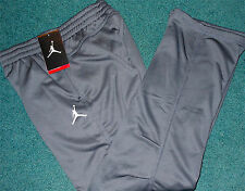 NWT Nike Air Jordan Boys YLG Dark Gray/White Therma-Fit Sweat Pants Large $50