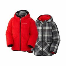 Columbia Boys Dual Front Reversible Winter Ski Jacket Coat - Red (Large)