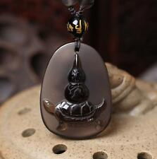 """Natural ice kinds of obsidian pendant Lucky turtle mascot amulet security an """"tu"""