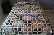 """New Amish Quilt Handmade Patchwork from Lancaster Pa. """"Bear's Paw""""  92""""x108"""""""