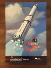 Glossy IN COLOR National Launch System Aircraft poster- circa 1990s