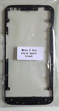 Motorola X 3rd style Black LCD Touch Plate Bezel Faceplate Frame Front Housing