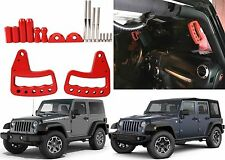 Upgraded Red Front Grab Bar Handles 2007-2017 Jeep Wrangler JK New Free Shipping