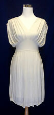 BANANA REPUBLIC Women Dress Size S silk white
