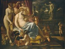 ANNIBALE CARRACCI ITALIAN VENUS ADORNED GRACES OLD ART PAINTING POSTER BB4869A
