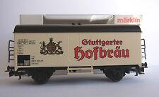 """Märklin HO 4439–Güterwagen-Bierwagen """"Stuttgarter Hofbräu"""" DB-TOP-OVP -beer car"""