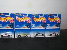 1996 HOT WHEELS WHITE ICE SERIES SET OF 4 MIP