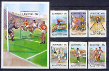 Olympiade 1988, Olympic Games - Lesotho - 622-627, Bl.40 ** MNH