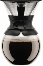 Pour Over Coffee Maker with Permanent Filter 34 oz Black Bodum 11571-01