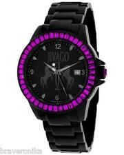 "JIVAGO ""FOLIE"" COLLECTION DATE WOMEN'S WATCH PURPLE GENUINE CRYSTALS. BRAND NEW."