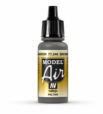 Vallejo Model Air Brown Grey 71.248 RAL7050 - 17ml Acrylic Airbrush Ready Paint