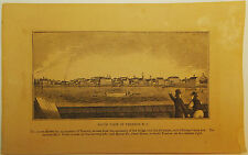 1844 New Jersey CAMDEN Windmill Smith's Island Walnut St. Ferry Engraving Print