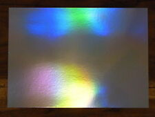 10 SHEETS OF A4 SILVER RAINBOW HOLOGRAPHIC CARD IN 240 gsm