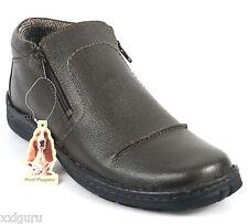 Hush Puppies Boots 44 LEDER Dunkel Braun Schuh Herren Stiefel Reißverschluss NEU