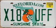 FLORIDA Oranges License Plate Sunshine State - Random Letters - FL