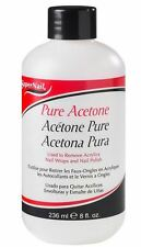 Super Nail Pure Acetone Polish Remover, 8 oz (Pack of 4)