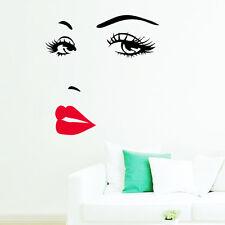 Sexy Girl Lippen Augen Aufkleber Wohnzimmer Dekor Vinyl Haus Wandsticker