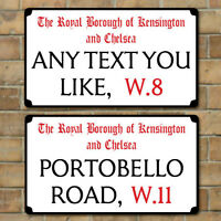 Old London Street Sign, Metal Road Sign, Plaque Personalised any text you like