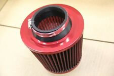 3' RED INLET HIGH FLOW SHORT RAM/COLD INTAKE ROUND CONE AIR FILTER RED