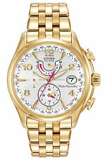 Citizen FC0002-53A Eco-Drive Perpetual Calendar A-T Gold Tone Women's Watch