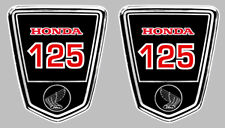 DAX 125 AUTOCOLLANTS X 2 STICKERS 95mmx80mm MOTO BIKER ENDURO TRAIL (HA132)