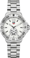 GIFT IDEA TAG HEUER FORMULA 1 WAU1113.BA0858 GRANDE DATE QUARTZ MENS WHITE WATCH
