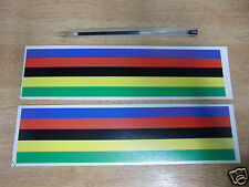 Cycling World Champion Rainbow Stripe Decals - LARGE 200x50mm (2 stickers)