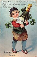 Boldog ujevet Best wishes for a Happy New Year! Giant shampagne bottle 1918