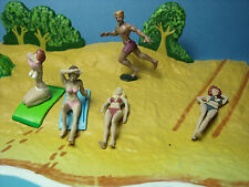 5  FIGURINES  SET 143  A  LA  PLAGE  VROOM  A  PEINDRE  1/43  UNPAINTED  FIGURES